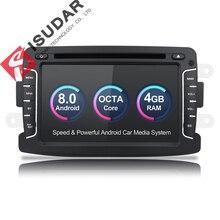 Isudar Автомагнитола 1 Din на Android 8.0 с Сенсорным 7 Дюймовым Экраном для Автомобилей Dacia/Sandero/Duster/Renault/Captur/Lada/Xray 2/Logan 2 DSP FM