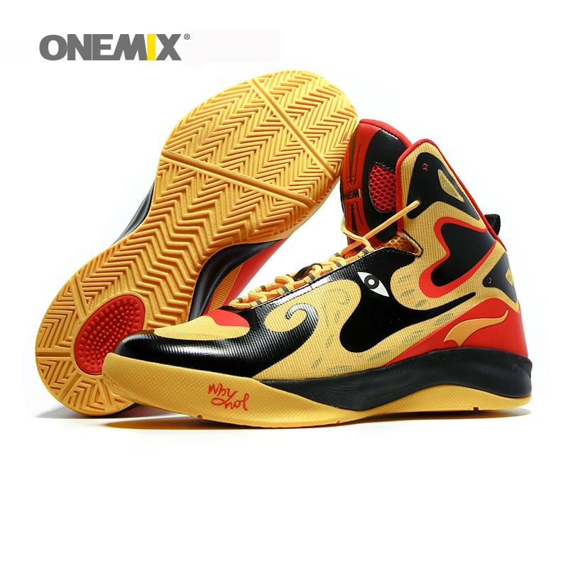 meilleure sélection e87f7 c8090 US $63.79 42% OFF Onemix unique design men's basketball shoes original  men's sneakers athletic sport shoes outdoor male ankle shoes boy  sneakers-in ...