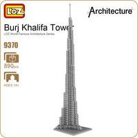 LOZ Ideas Diamond Block Burj Khalifa Bubai United Arab Emirates Tower Architecture Famous Tallest Building Model