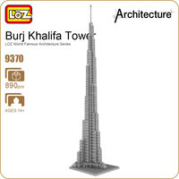 LOZ Ideas Diamond Block Burj Khalifa Bubai United Arab Emirates Tower Architecture Famous Tallest Building Model