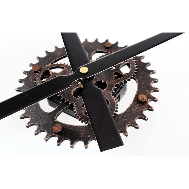 Image 4 - Wall Clock 30CM big pointer clock mechanism  Wall Clocks saat Reloj retro wooden gear clocks hanging  accessories mute kit-in Wall Clocks from Home & Garden on AliExpress
