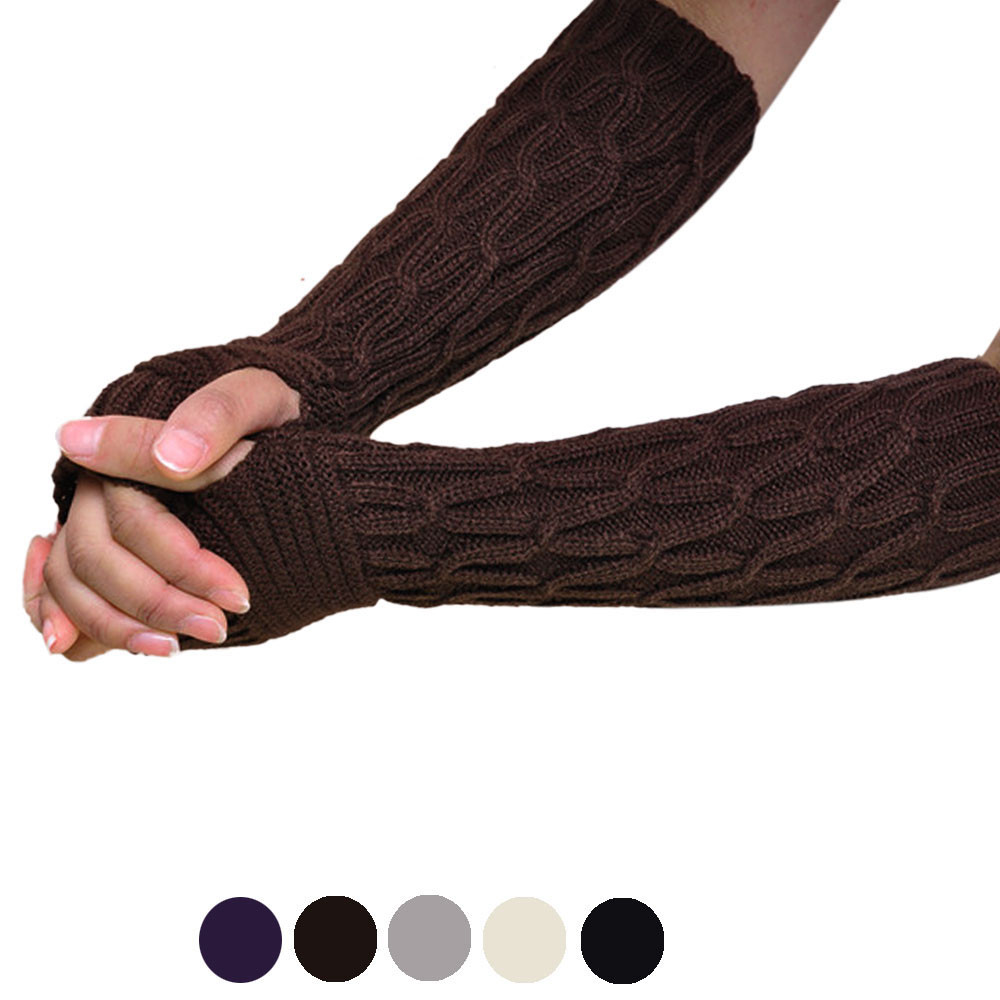 Gut Heißer Maketing 5 Farben Frauen Gestrickte Arm Wärmer Weibliche Handschuhe Winter Herbst Fingerlose Handschuhe Waug24 Drop Verschiffen GläNzende OberfläChe Armstulpen
