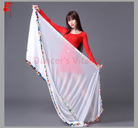 Belly dancing accessories chiffon belly dance veil for women belly dance 2.1*1.5M veil girls belly dance show props veil