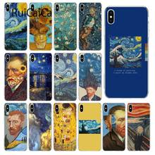 Ruicaica Van Gogh Art Minyak Lukisan Dicat Indah Ponsel Case untuk Apple iPhone 8 7 6 6 S Plus X XS Max 5 5 S SE XR Mobile Cover(China)
