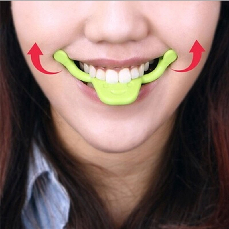 smile trainer Silikon Smile Brace Face Line Otot Stretching Lifting Training Mouth smile maker Facial Messager vibrator