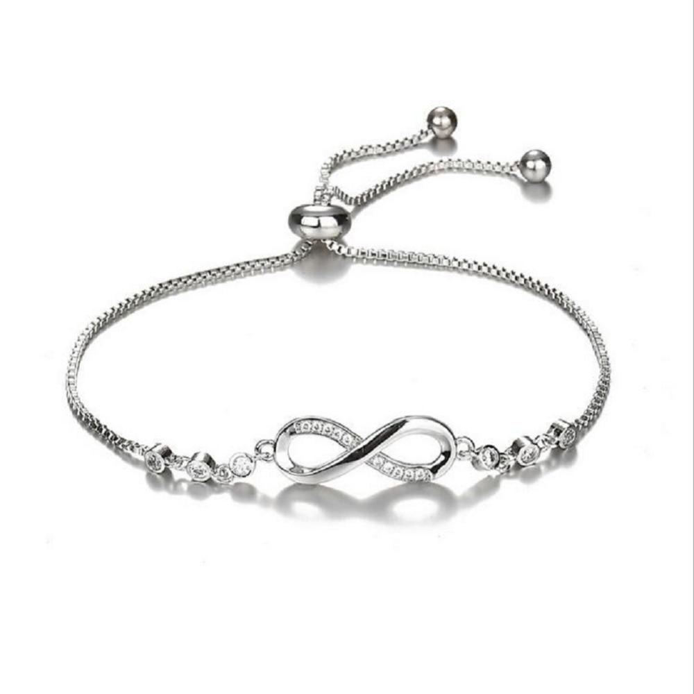 Infinity Charm Bracelet With Chain For Women//Girls