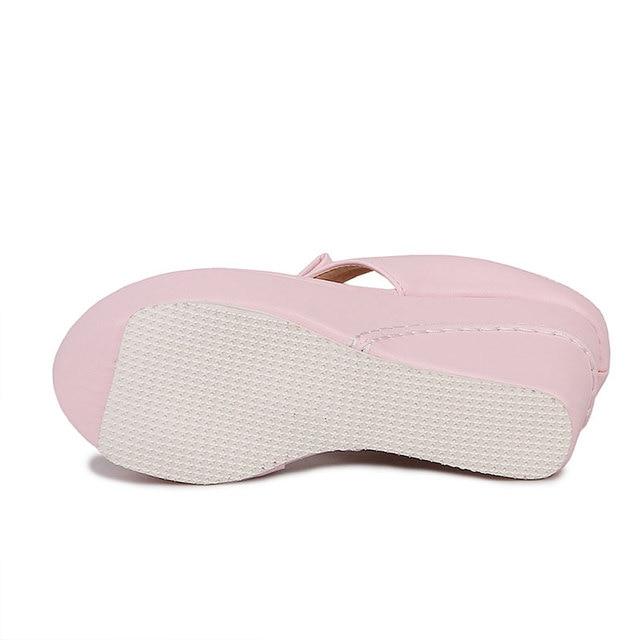 NEOARRY Plus Size 30-43 High Heels Women Flip Flops Summer Sandals Platform Wedges Slippers Fashion Beach Shoes Woman JT277