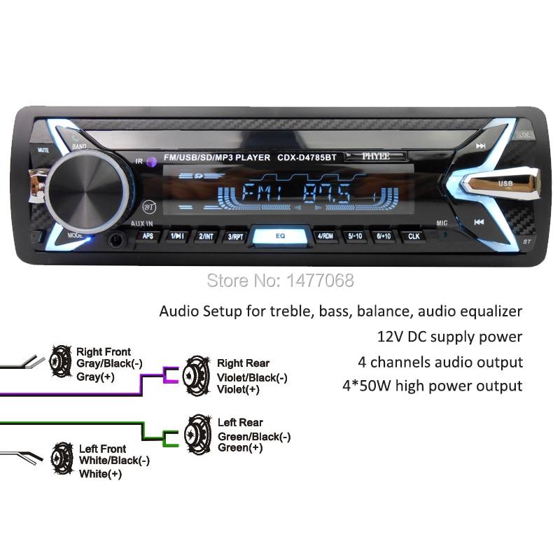 HOT SALE] Detachable Car Radio Bluetooth Autoradio USB 1 Din