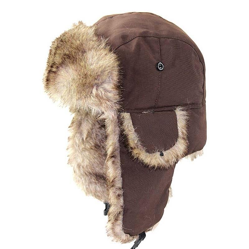 Mens Womens Russian Trapper Trooper Cap Winter Warm Earflap Earcuff Snow Ski Hat