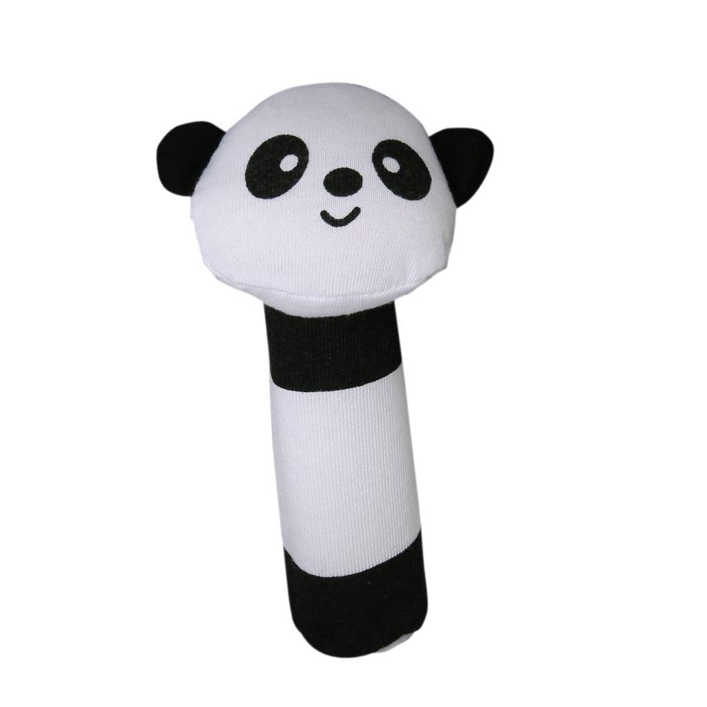 FBIL-shape Panda Fabric squealing sound bar Baby play toys