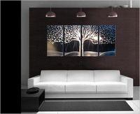 Sanat Soyut Özel hayat ağacı/Resim Heykel Orijinal Modern Metal Duvar Kapalı Açık Dekor