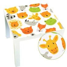 Прекрасный мультфильм животных отсутствие настольные столы мебель ПВХ палки обои самоклеющиеся настенные стикеры Детская комната Наклейка украшение дома