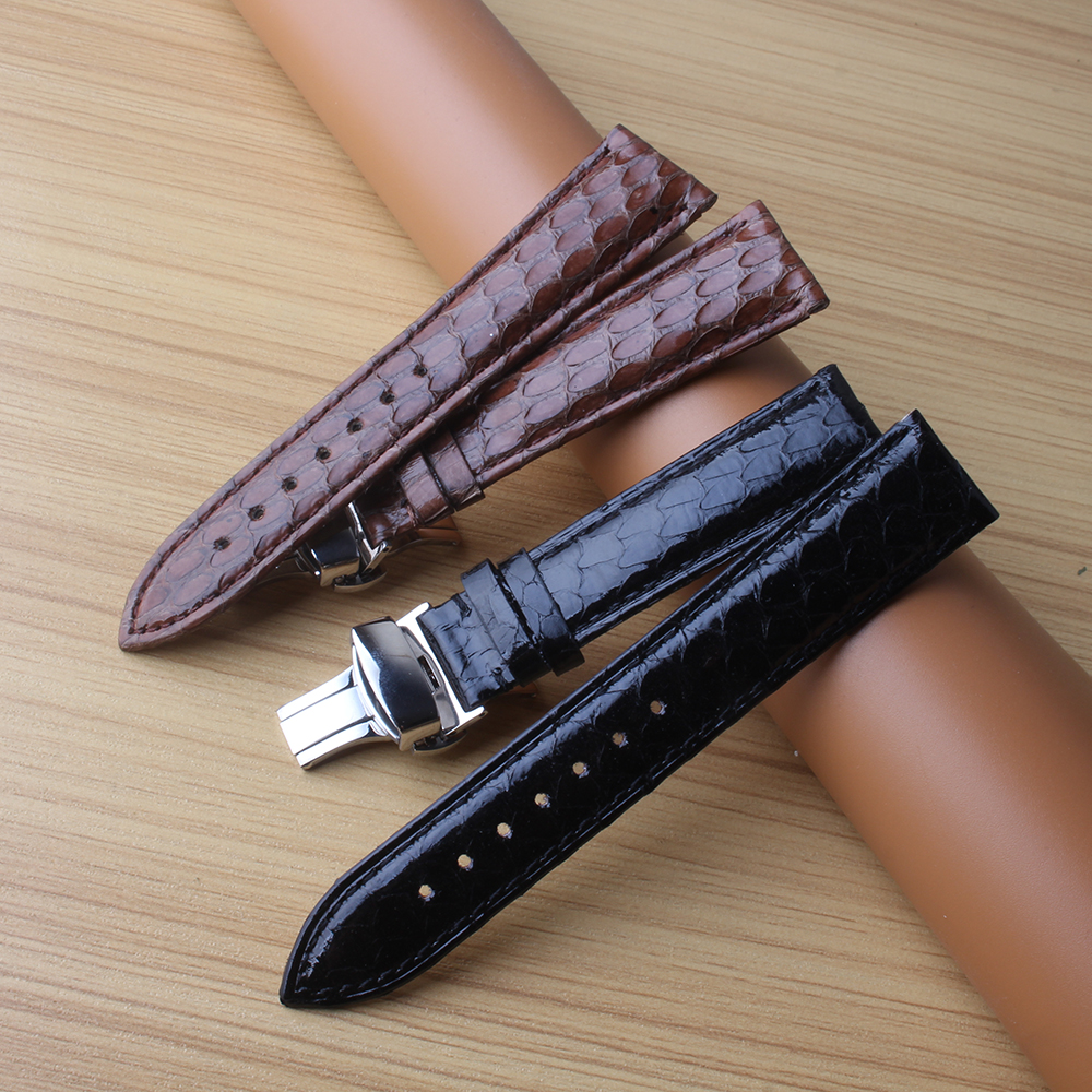 Watchband Genuine Leather and snake leather for Luxury WatchBand Bracelets 20mm 22mm Man Woman Watch accessories with buckle new