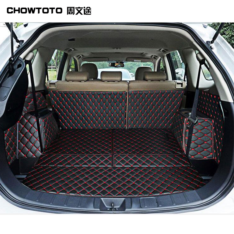 CHOWTOTO Custom Special Trunk Mats For Mitsubishi Outlander 5seats Durable Waterproof Luggage Mat For Outlander 5