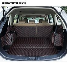 CHOWTOTO Kundenspezifische Sonder Stamm Matten Für Mitsubishi Outlander 5 seats Beständigen Wasserdichten Gepäck Matte Für Outlander 5 Sitze Boot pad
