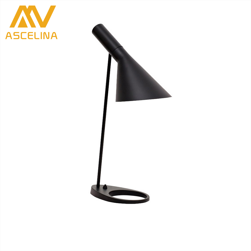 ФОТО ASCELINA Nordic Modern Simple LED Table Lamp Adjustable Desk Lamp for Bedroom Living room Study room Office Hotel black/white