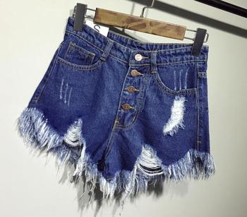 female fashion casual summer cool women denim Shorts high waists fur-lined leg-openings Plus size sexy short Jeans 6