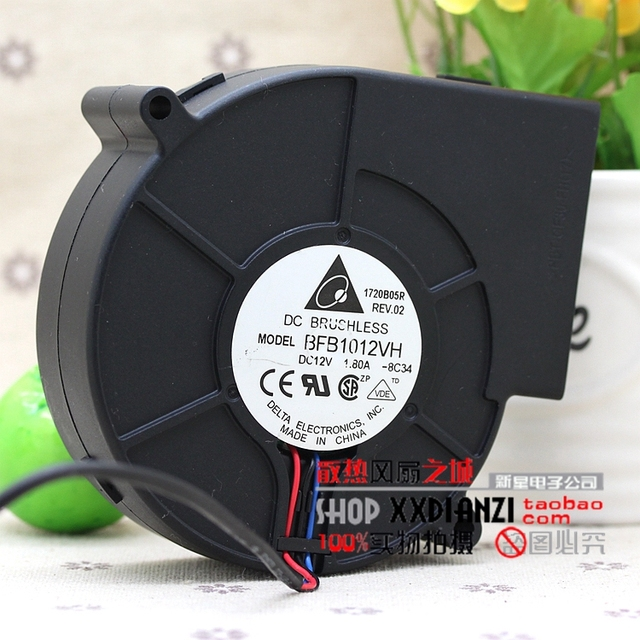 Brand new BFB1012VH 9733 fã 1.80A 12 V base de ferro de grande volume de ar durável