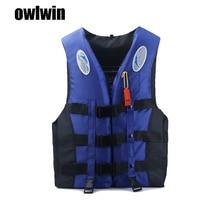 Adult life jacket jackets men vest kayka life vest fishing vest for fishing XXXL Ski Drifting Vest With Whistle Prevention цена