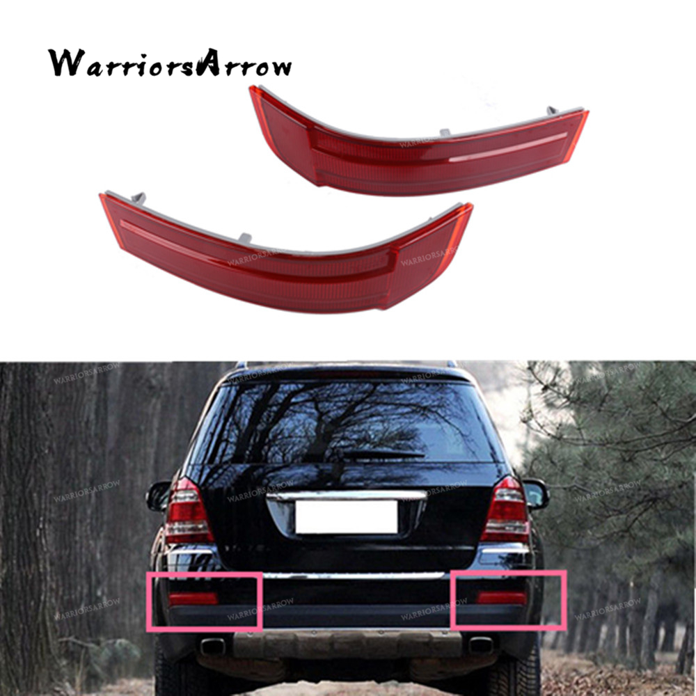 Pair Rear Bumper Reflector Warn Light Red Lens Left Right For Mercedes-Benz GL320 GL450 GL550 2007-2009 1648201174 1648201274(China)