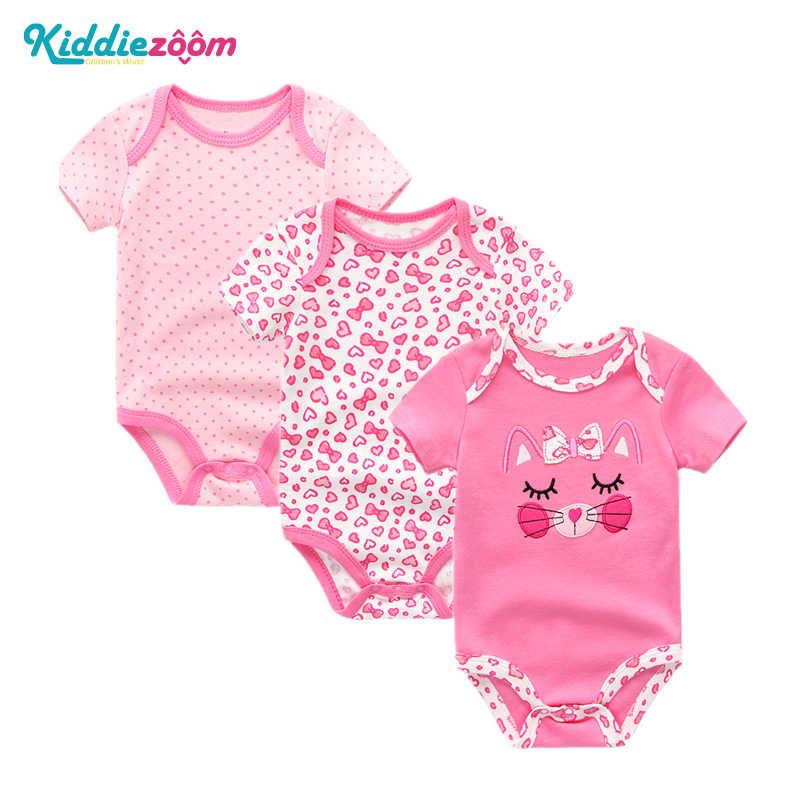 6274cbedfd0 3PCS LOT Baby Bodysuit Newborn Bebe Boy Girl Clothing 100%Cotton Short  Sleeves O