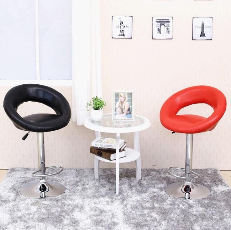 European Unique Design Simple Fashion PU Backrest Bar Chair Lifting Stool Bar Height Adjustable Free Shipping