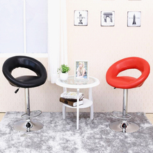 European unique design simple fashion PU backrest bar chair lifting stool bar height adjustable free shipping
