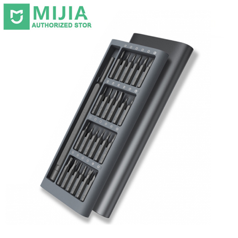 D'origine Xiaomi Mijia Wiha Quotidienne Kit 24 Précision Magnétique Bits AL Boîte xiaomi Ensemble à la maison intelligente 2017