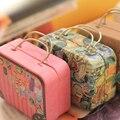 1 шт. типа Европа стиль vintage чемодан форма конфеты коробка для хранения свадьбы пользу жестяной коробке кабельный организатор контейнер бытовой