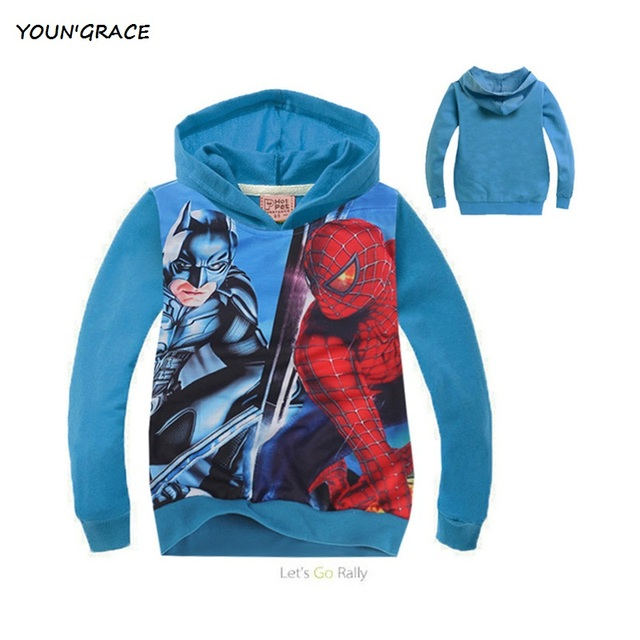 Novo Design Spiderman Hoodies casaco para meninos crianças Batman Causal Outwear roupas de bebê primavera outono hoodies, Yc017