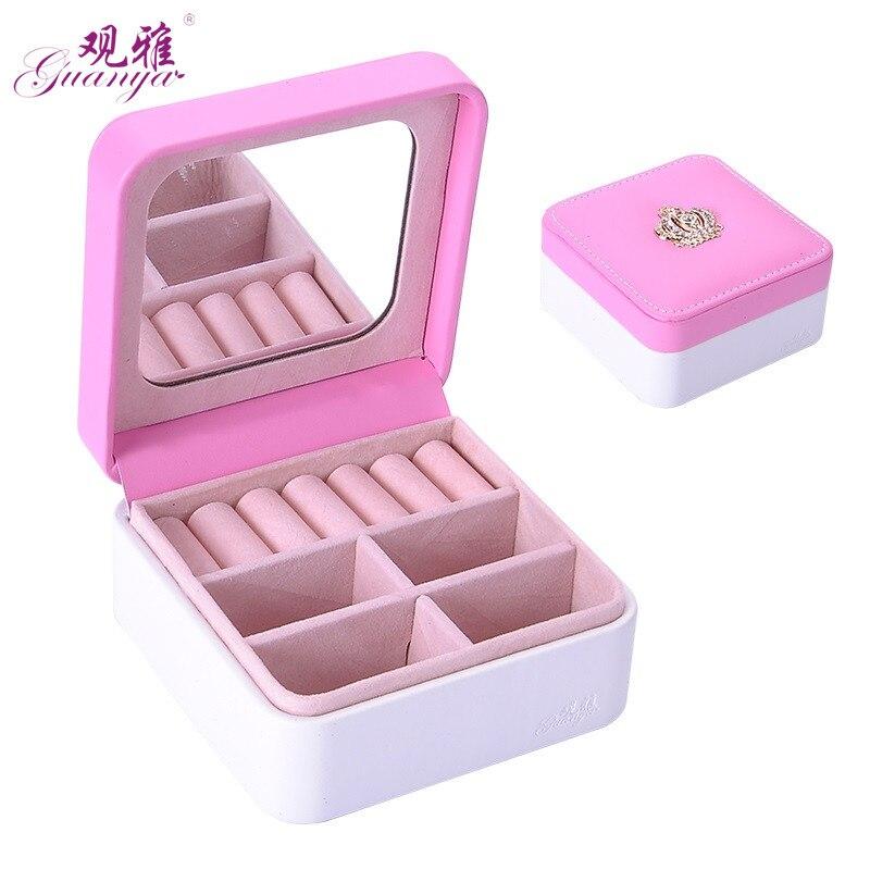 2018 Newest Small Storage Box Customized Jewlery Boxes With Crown Jewel Organizer Jewel Casket Fashion Wedding Birthday Gift jewel box