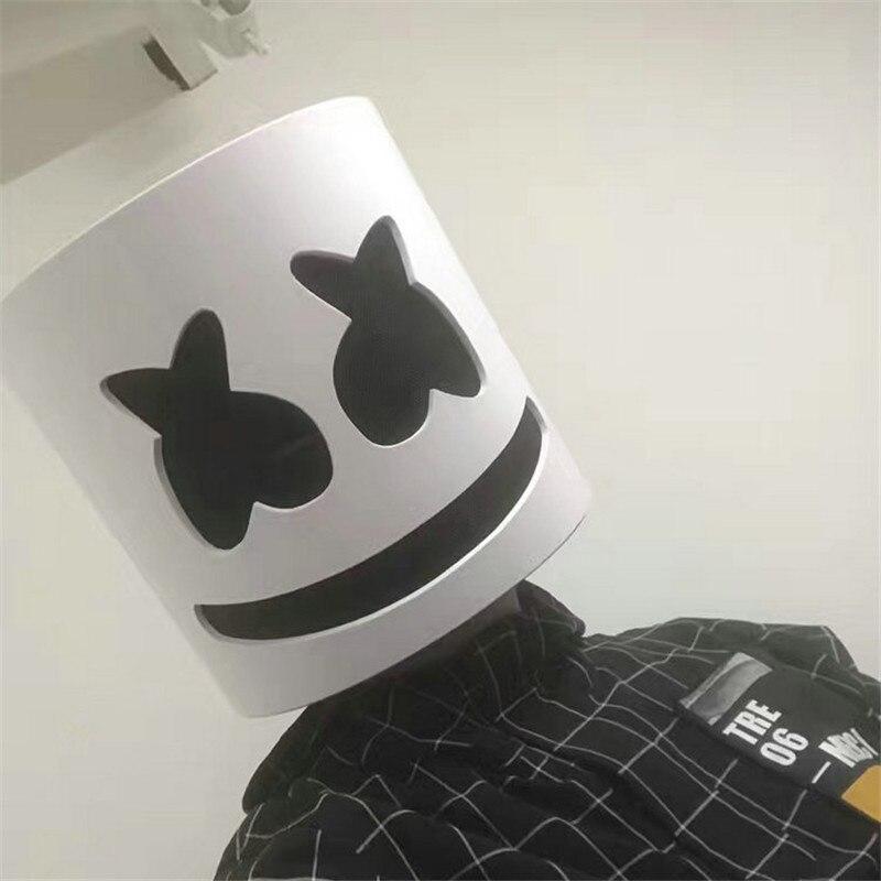 NEW Mask Marshmello Helmet Marshmello DJ Mask Face Hat Music Fans Concert Props Helm High Quality Halloween Christmas Gift slip-on shoe