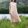 SCUWLINEN 2017 Women Summer Dress Cute Empire Sleeveless Plus Size Long Fake Two Pieces Dress Casual Beach Party Dress S196