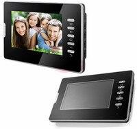 7-Inch Kleur TFT Lcd-scherm Video Deurtelefoon Monitor met Wit/Zwart voor kiezen Ondersteuning Remote Unlock/Handen-gratis/Video/Talk