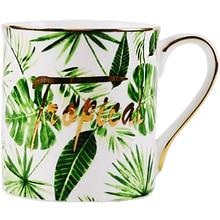 Green Plants Printed Ceramic Tableware