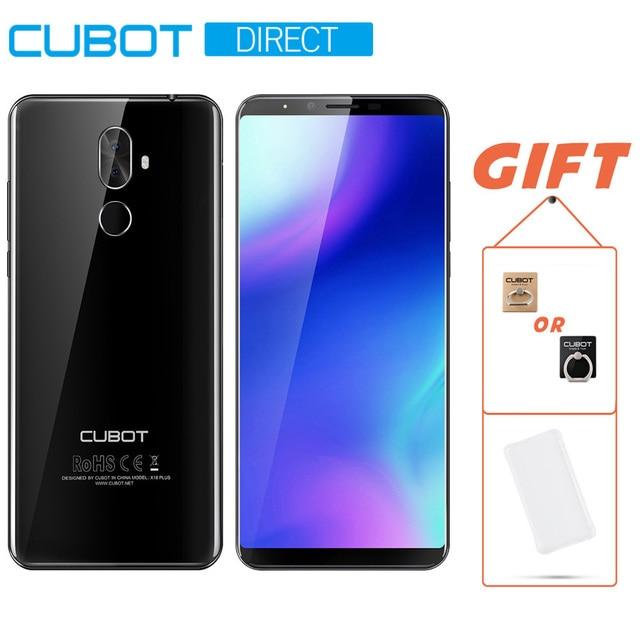 Cubot X18 плюс 4 ГБ+64 ГБ Памяти MT6750T Восьмиядерный Процессор 18:9 FHD + 1080 x 2160 5,99 дюймовый смартфон 4G LTE Оригинальный Android 8,0 Двойная Задняя Камера 20Мп+2Мп 4000 мАч Ёмкая Батарея Две СИМ Карта Телефон
