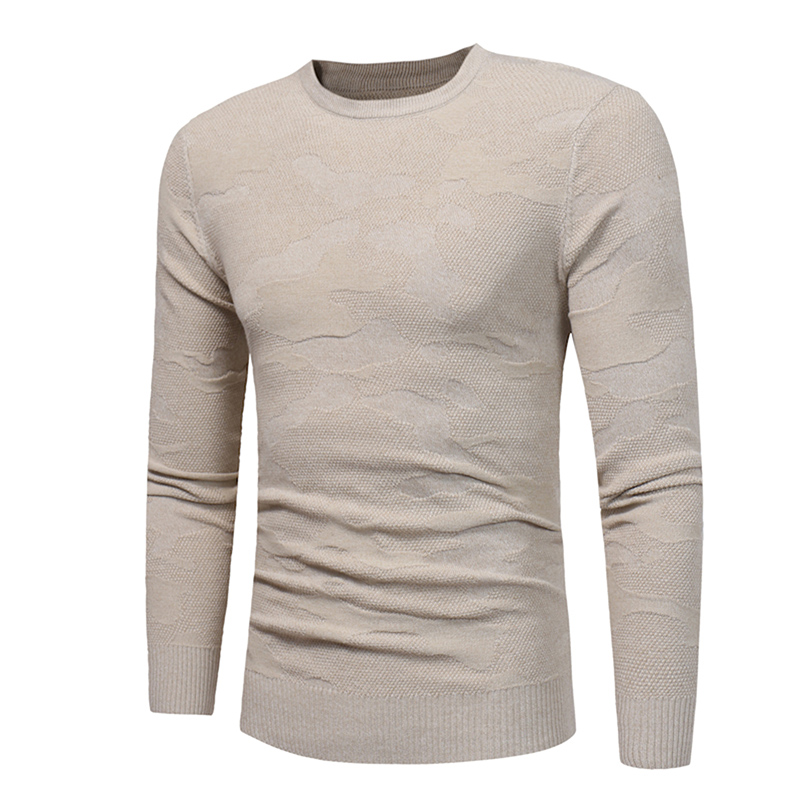 Mens Knitted Sweaters Autumn Winter High Quality O-Neck Men Clothing Tops Long Sleeves Casual Solid Slim Men Pullovers F373