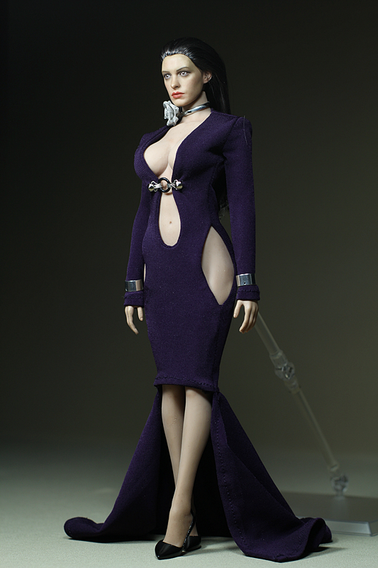 Mnotht Custom 1/6 Scale Female Solider Purple Sexy Long dress Fit Medium Chest Big Chest For PH HT Glue Body l30 mnotht 1 6 scale male solider body model