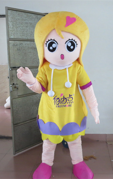 Latest high quality strawberry girl mascot costume cartoon character costume, adult carnival costume fancy dress, fur mascot 1pcs high quality peach pear orange tomato character eva with plush mascot costume in box via ems 4 kinds for select