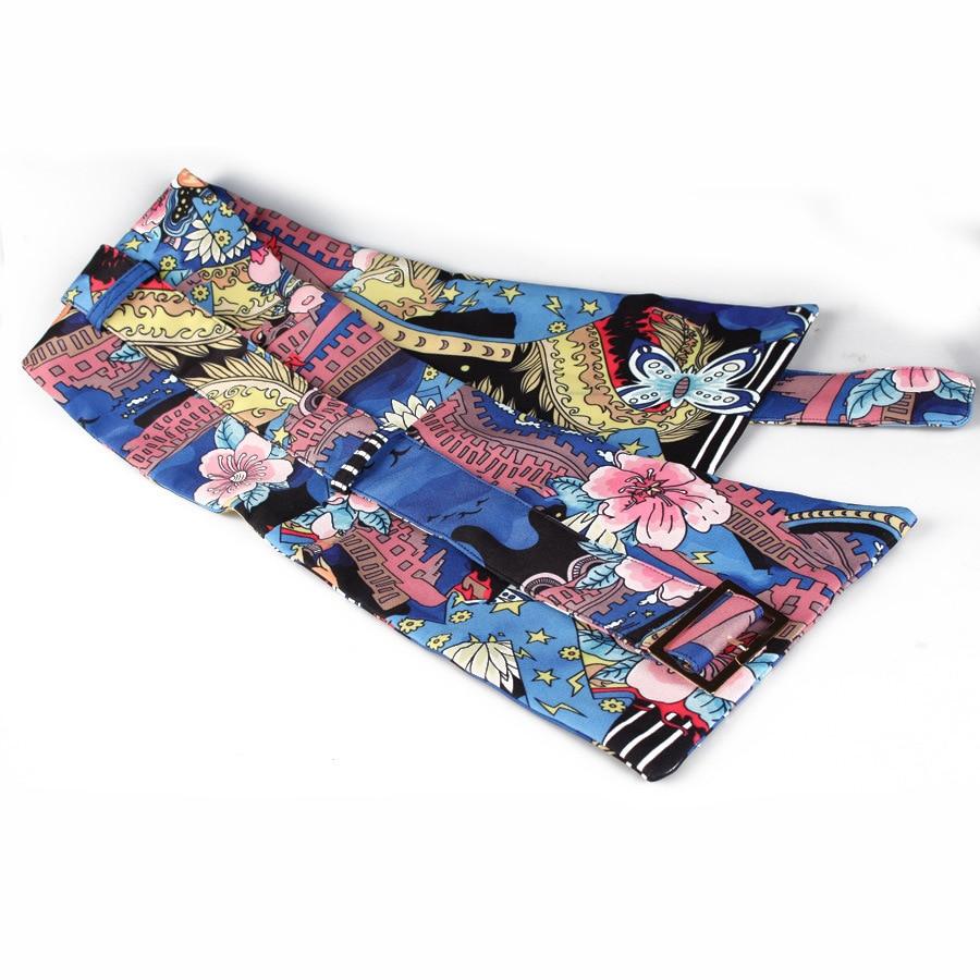 0d948a4f4e5 2018 New Women Gg Belt Bandoleira Cinto Feminino Extra Wide Belt Decorative  Painting Flower Cloth Waist Seal Woman-in Women s Belts from Apparel  Accessories ...