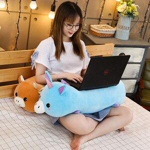 Image 2 - Joint Animal en peluche, joint Animal licorne raton laveur, joint, coussin pour dormir doux, poupées, jouets de dessin animé pour bébés, 50/60/80CM, 1 pièce