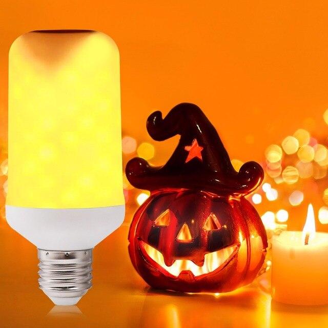 2835 B22 85 V-240 V ampoule E27 maïs SMD lumière 66LED s flamme feu LED 5W 1800K 85-265V lampe clignotant jaune ampoule E14 Live