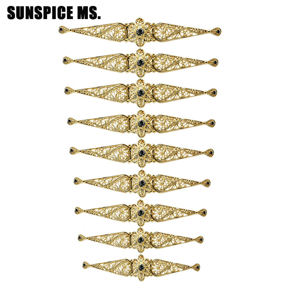 SUNSPICE MS Europe Women Breastplate Body Jewelry Caucasus Wedding Dress Accessories Russia Retro Chest Button Waist Chain Belt
