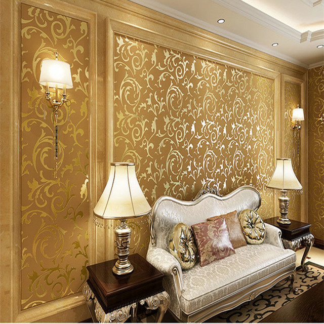 Best Home Decor Deep Embossed 3D Europe Wall Paper Waterproof Wood Fiber Wallpaper Roll For Living