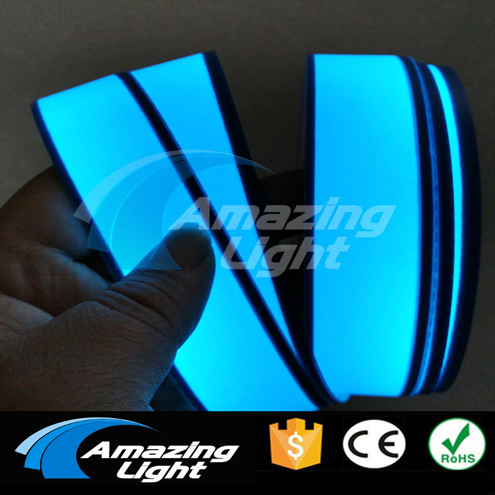 New Arrival 3cm x 200cm white Flexible Electroluminescent Tape EL Wire Glowing With DC12V Inverter