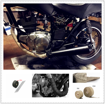 Motorcycle car parts exhaust pipe modification fire insulation cloth for HONDA CR80R 85R CRF150R CR125R 250R CRF250R image