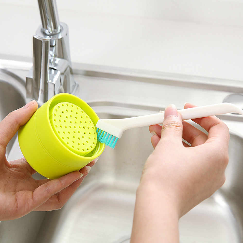 Cleaning brush Kitchen Handle Sponge Brush Bottle Cup Glass Washing Cleaning Cleaner Tool cleaning tool limpeza 0.85