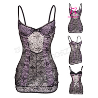 Adult Sex Sleepwear Babydoll Purple Lace Chemise Night Dress Plus Size Erotic Lingerie Pajamas For Women L/XL/XXL/3XL/4XL/5XL