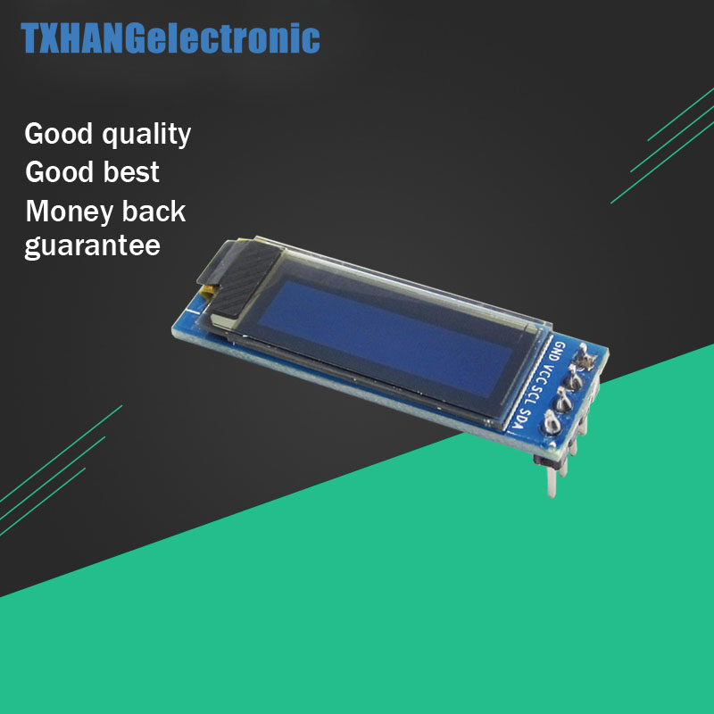 0.91 Inch 128x32 IIC I2C Blue OLED LCD Display DIY Module SSD1306 Driver IC DC 3.3V 5V For Arduino PIC