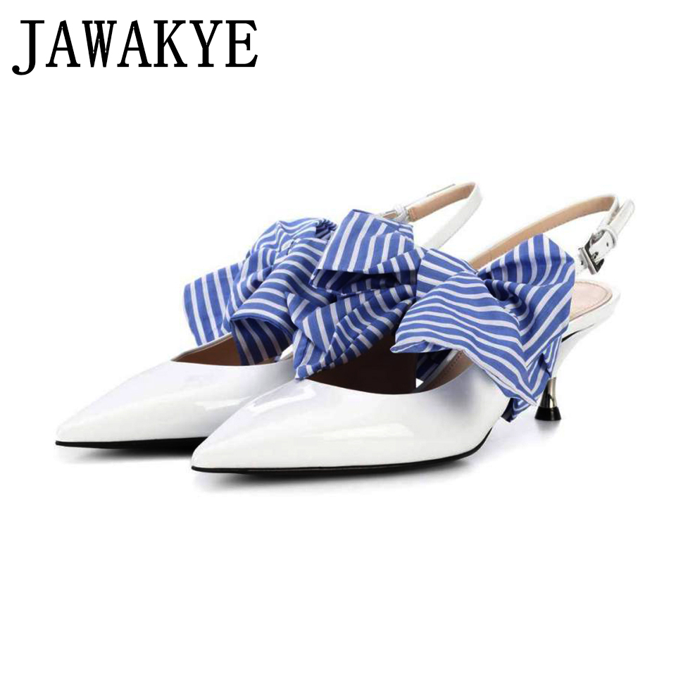 Elegant Kitten Heels pointed Dress shoes Woman Big Butterfly knot High heel Shoes White Leather pumps women shoes zapatos mujer подвесной светильник lightstar meta duovo 807066